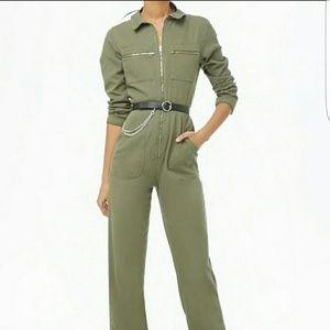 Forever 21 emory park utility jumpsuit